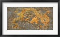 Framed Golden Dragon