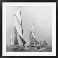 Framed Sailboats Sailing Downwind, 1920 (Detail)