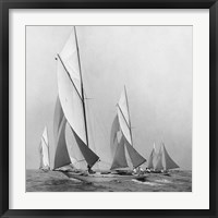 Framed Sailboats Sailing Downwind, 1920 (Detail)