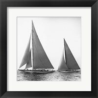 Framed Sailboats in the America's Cup, 1934 (Detail)