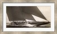 Framed J Class Sailboat, 1934