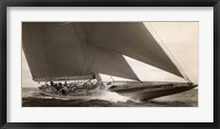 Framed J Class Sailboat, 1934