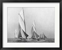 Framed Saliboats Sailing Downwind, ca. 1900-1920