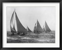 Framed Sloops at Sail, 1915 (Detail)