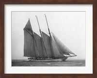 Framed Schooner Karina at Sail, 1919