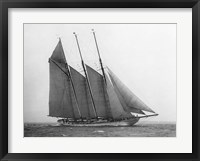 Framed Schooner Karina at Sail, 1919