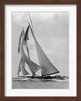 Framed Schooner Half Moon at Sail, 1910s