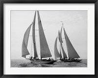 Framed Sailboats Race during Yacht Club Cruise