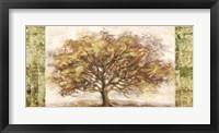 Framed Golden Tree Panel