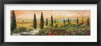 Framed Il Viale dei Cipressi