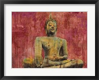 Framed Golden Buddha