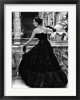 Framed Black Evening Dress, Roma 1952 (Detail)