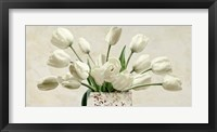 Framed Bouquet Blanc
