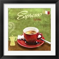Framed Espresso I
