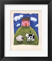 Framed Pink Farmhouse
