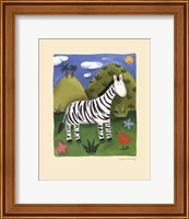 Framed Zara the Zebra
