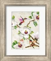 Framed Magnolia and Humming Birds