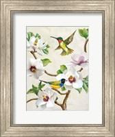 Framed Magnolia and Birds