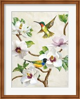 Framed Magnolia and Birds