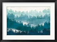 Framed Mountainscape Blue