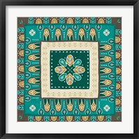 Framed Cool Feathers Tiles III