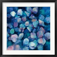Framed Midnight Blue Hydrangeas