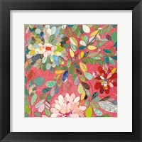 Framed Red and Pink Dahlia III
