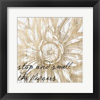 Framed Metallic Floral Quote I
