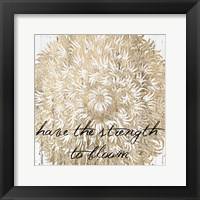 Framed Metallic Floral Quote II