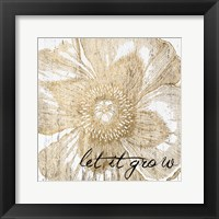 Framed Metallic Floral Quote III