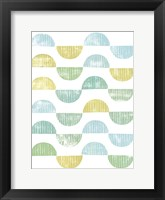 Framed Semi Circle Block Print I