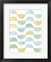 Semi Circle Block Print I Framed Print