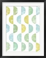 Framed Semi Circle Block Print II