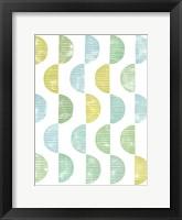 Semi Circle Block Print II Framed Print