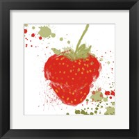 Framed Modern Strawberry
