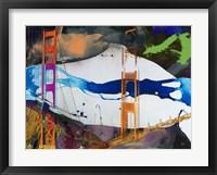 Framed San Francisco Bridge Abstract I