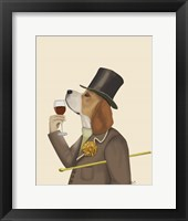 Framed Beagle Wine Snob