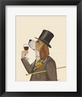 Framed Beagle Wine Snob