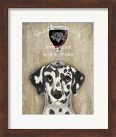 Framed Dog Au Vin Dalmatian