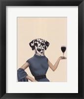 Framed Dalmatian Wine Snob