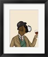 Framed Boxer Wine Snob