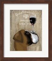 Framed Dog Au Vin Boxer