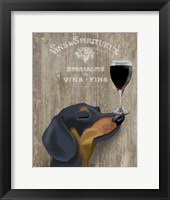 Framed Dog Au Vin Dachshund