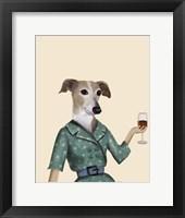 Framed Greyhound Wine Snob