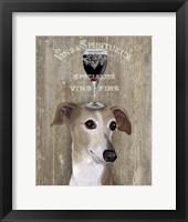 Framed Dog Au Vin Greyhound