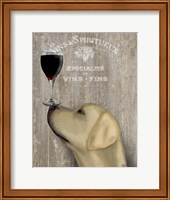 Framed Dog Au Vin Yellow Labrador