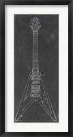 Electric Guitar Blueprint I Framed Print