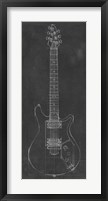 Electric Guitar Blueprint II Framed Print