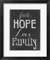 Framed Chalkboard Faith I