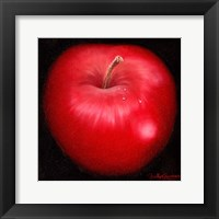 Framed Red Apple